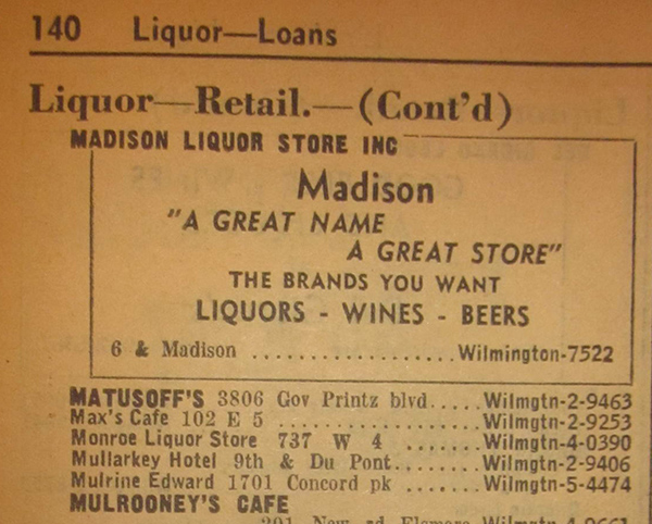 Mulrine Liquors at 1701 Concord Pike